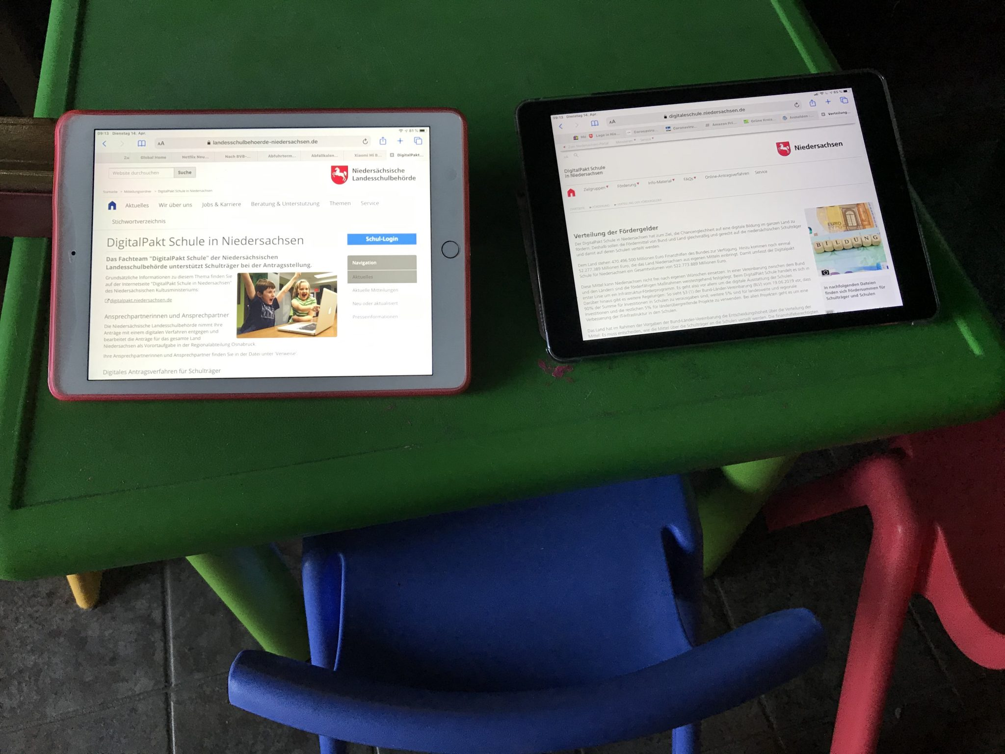 Zügige Digitalisierung der Schulen