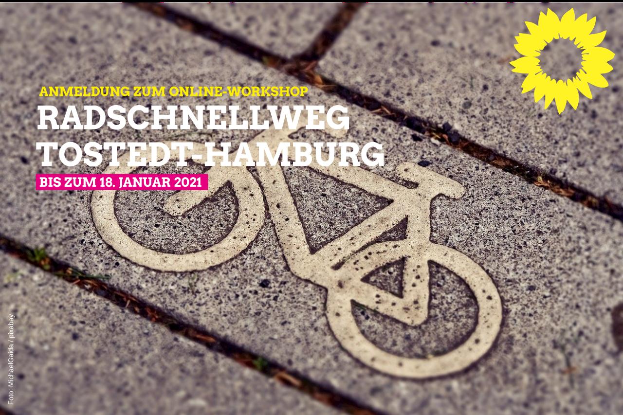Radschnellweg Tostedt-Hamburg.  Jetzt zum Online-Workshop anmelden!