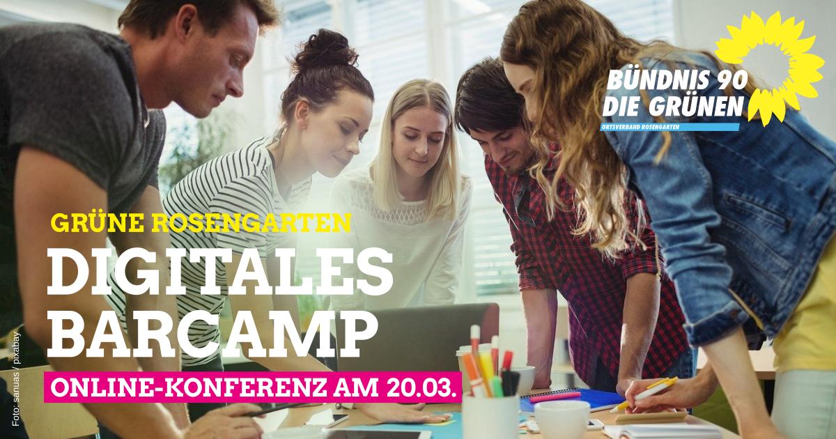 Was mich in Rosengarten bewegt, das bewegen wir auch! Erstes Digitales Barcamp am 20.03.