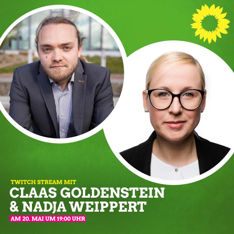 Claas Goldenstein und Nadja Weippert im Livestream: 20.05.21 von 19-21 Uhr