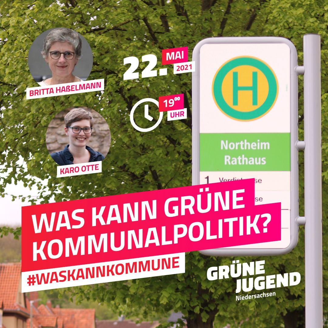Was kann Grüne Kommunalpolitik?  Online-Diskussion am 22.05.21 um 19 Uhr
