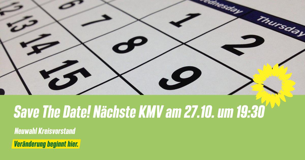 Save The Date! Nächste KMV am 27.10. um 19:30